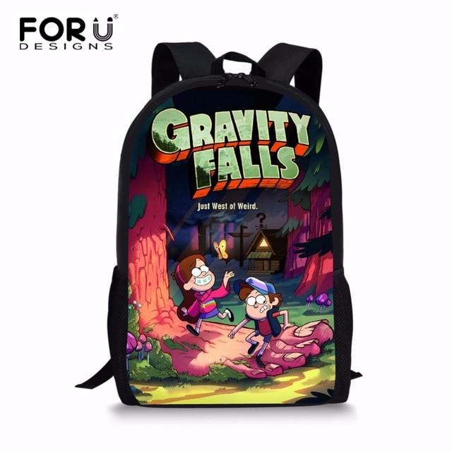 FORUDESIGNS Gravity Falls Children School Bags Boy Girl School Backpack  Cartoon Dipper Mable Backpack For Teenagers Kids Bookbag aca9a82f0178e