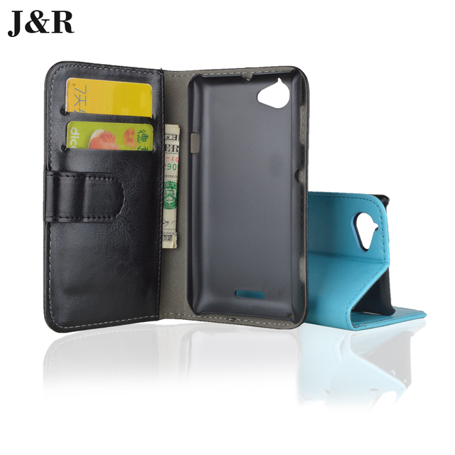 reputable site c3a3d 8dee3 US $4.96 |For Sony Xperia L Case Wallet Flip Leather Back Cover Case For  Sony Xperia L S36h C2104 C2105 4.3 Inch Mobile Phone Accessories-in Wallet  ...