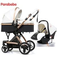 14 кг Роскошные Детские коляски 3 в 1 новые кожаные коляски детские автокресла для ребенка Детская трицикл Детские коляски для для новорожден