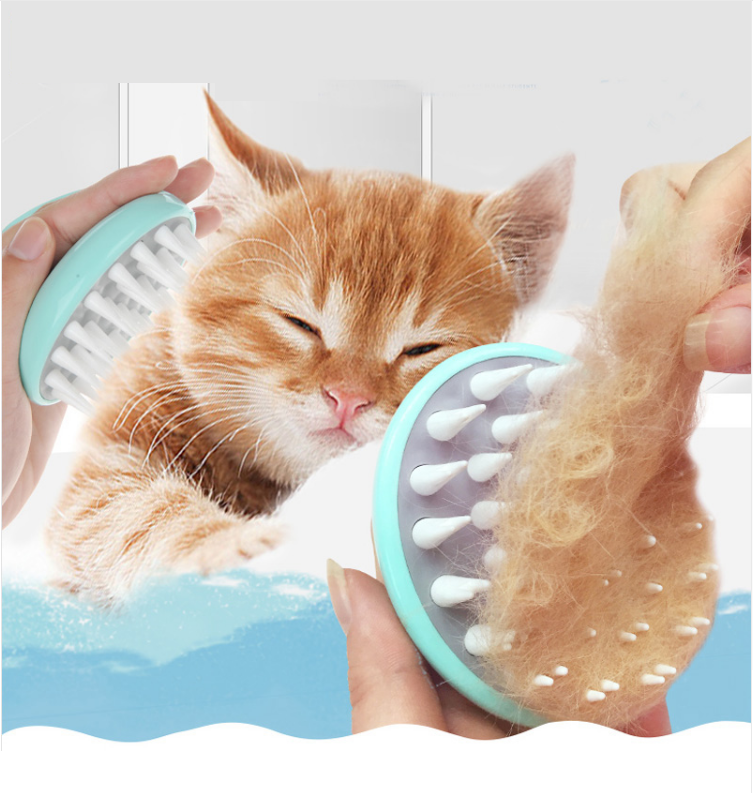 NEW Comfort Pet Brush Grooming Dog Puppy Cat Washing Cheaning Bath Brush Comb Dog Massage Shower 2 Color