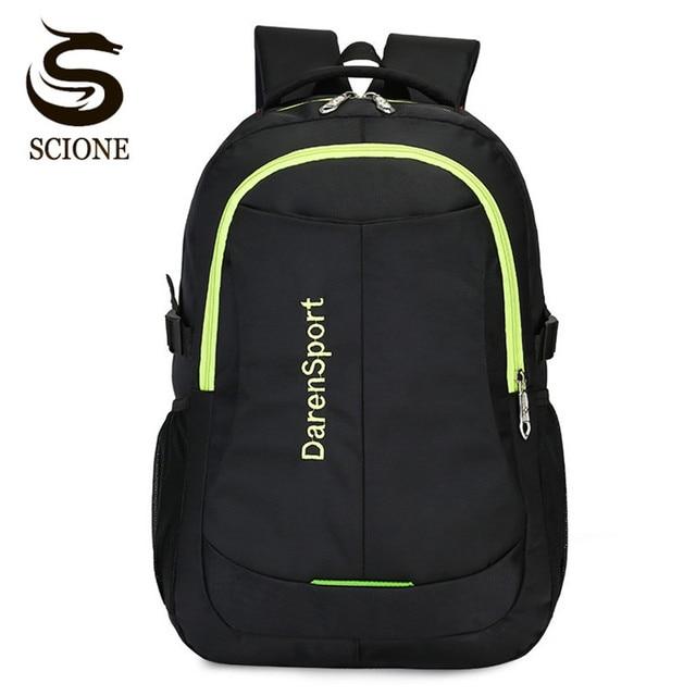 53de58c727c3 Scione Waterproof Backpack Mens Large Capacity Laptop Backpacks Women  Female Travel Rucksack Teenagers School Bag Casual Daypack