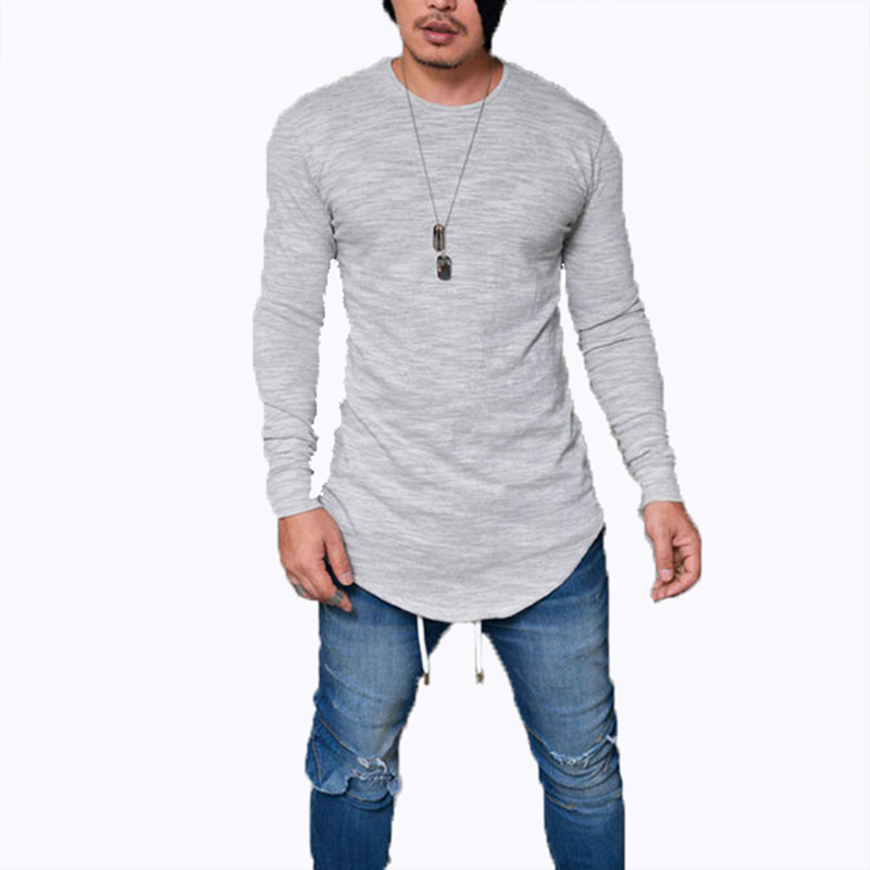 Hot 2020 Spring Fashion O-Neck Slim Fit Long Sleeve T Shirt Men Trend Casual Mens T-Shirt Black White T Shirts Tops 3XL