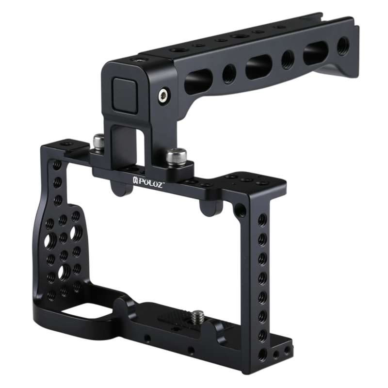 PULUZ For Cage Protective Video Camera Cage+Top Handle Kit Film Making Stabilizer for A6000 Case Mount