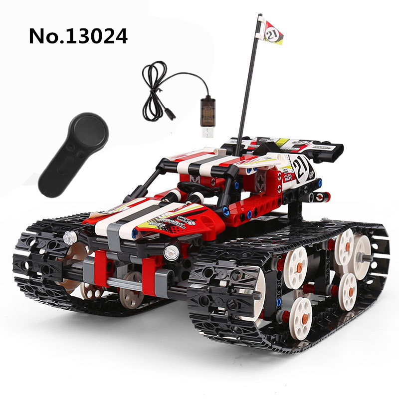Compatible with Legoed Technic Remote Control Building Block Tracked Racer Car Caterpillar Vehicles USB Toys For Children Gifts