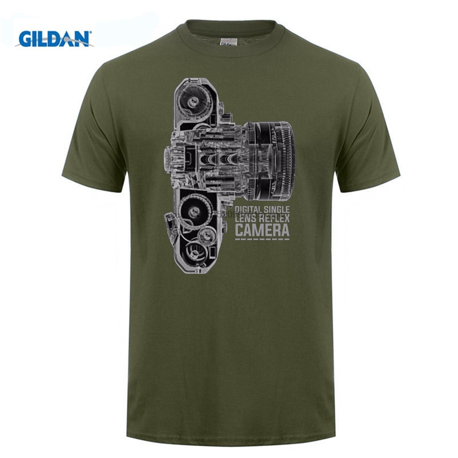 Merk Kleding 100% Katoen Korte Mouwen Zomer T-Shirt Camera Dslr Technologie X Ray Photographie T-shirt Print