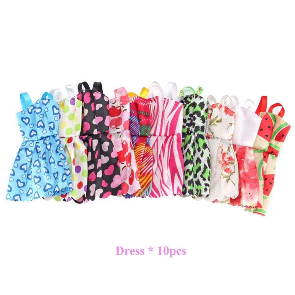83 ItemSet Doll Accessories=10 Pcs Doll Clothes Dress+18 Pairs Shoes+2 Pcs Crown+2 Handbag+12 Clothes Hanger for Barbies Doll (2)