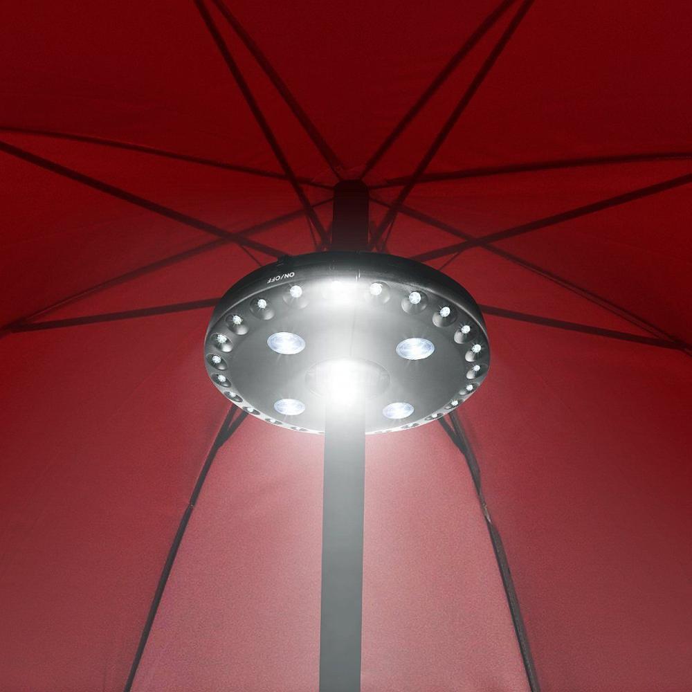 Bon 3 Light Mode Pole Patio Umbrella Light 24 LED Bulb Battery Operate Light  For Yard Garden