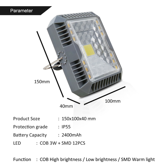 T-SUNRISE LED Camping Lights 3 Mode Outdoor Tent Camping Lantern Solar Flashlights Lamp USB Rechargeable Portable Hanging Lamps 2