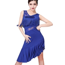 New Latin Dance Dress Women Tassel Salsa Samba Tango Latin Dance Dress Latin Competition Dresses Tango Dance Skirt Dancewear