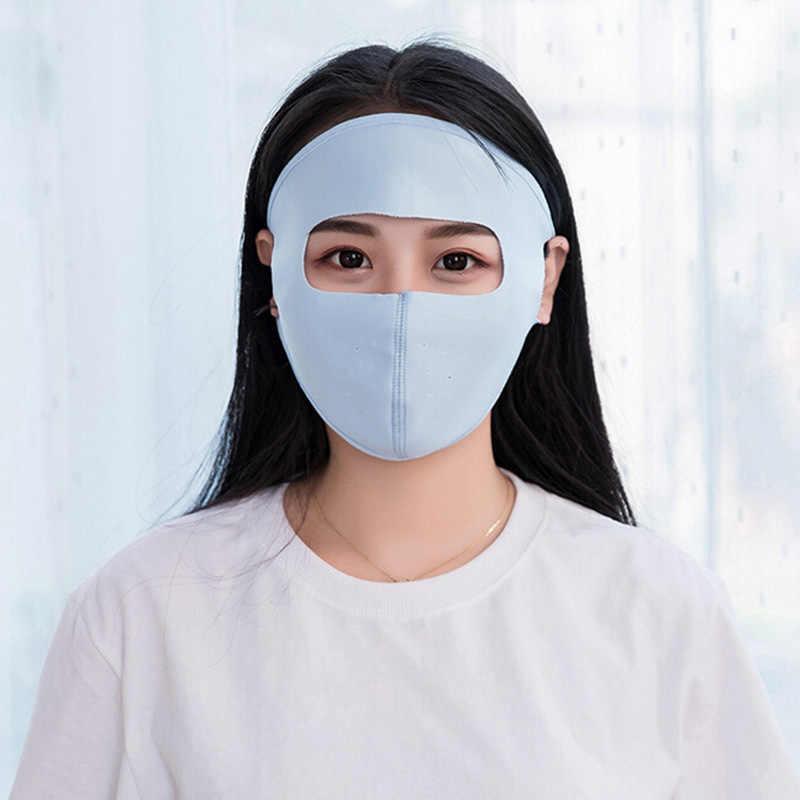 Protezione solare maschera di equitazione sciarpa di collo unisex freddo Ad asciugatura rapida UV di protezione della copertura della mascherina del fronte di seta del ghiaccio maschera traspirante sciarpa