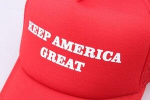 Новая крутая красная бейсболка с принтом «Keep America Great», регулируемые бейсболки с сеткой для спорта на весну-лето