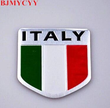 BJMYCYY New 3D Aluminum ITALY National Flag Emblem Badge Car / Motorcycle Signage Nameplate Logo Car Stickers
