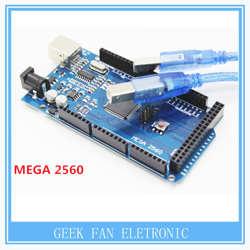 High Quality Mega 2560 R3 Mega2560 REV3 CH340G Board USB Cable Compatible A406