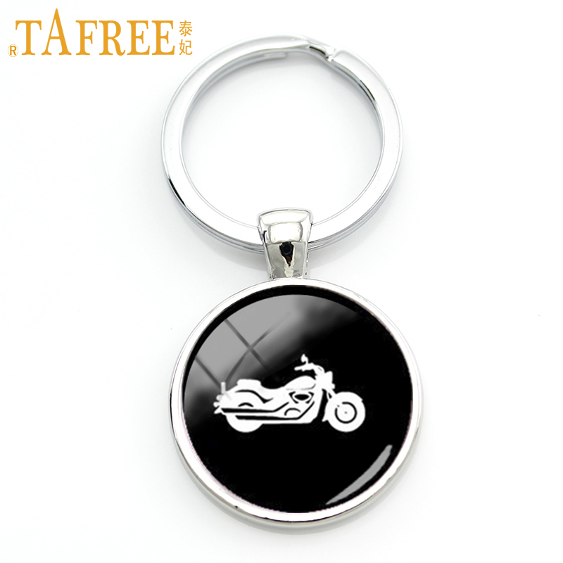 TAFREE Trendy sports men gifts Harley motorcycle key chain ring vintage motorbike profile silhouette keychain boy jewelry KC574