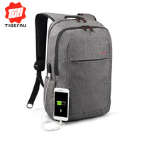 2016 Grey Canvas Men S Backpack Bag Brand High Quality 14 1 15 6 Inch Laptop