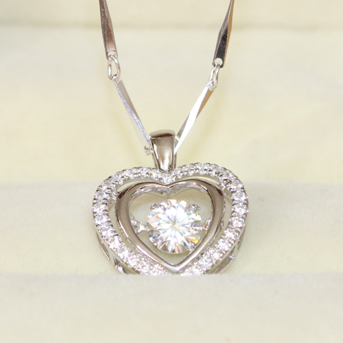 Queen brilliance 05 carat ct floating diamond heart lab grown queen brilliance 05 carat ct floating diamond heart lab grown moissanite diamond pendant necklace genuine sterling aloadofball Gallery