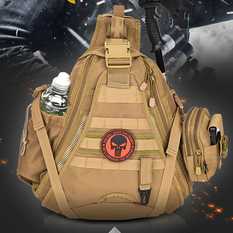Military Tactical Chest Sling Bags 600D Encrypted Nylon Outdoor Sport Bag One Single Shoulder Large Travel Camouflage Backpack smart watches c5 smart bracelet dynamic heart rate monitor bluetooth wristband smart sports watch sleep tracker for ios android