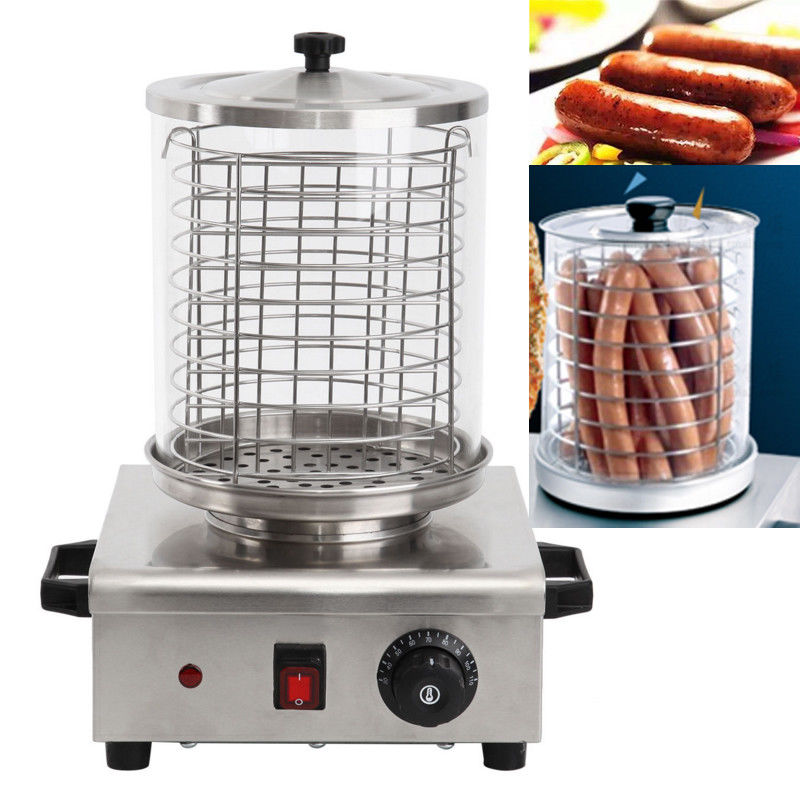 (Ship from Germany) 850W Electric Commercial Stainless Steel Hot Dog Steamer Warmer Steamer Maker electric lunch box double layer stainless steel liner cooking lunch boxes multifunction plug in lunch box steamed rice steamer