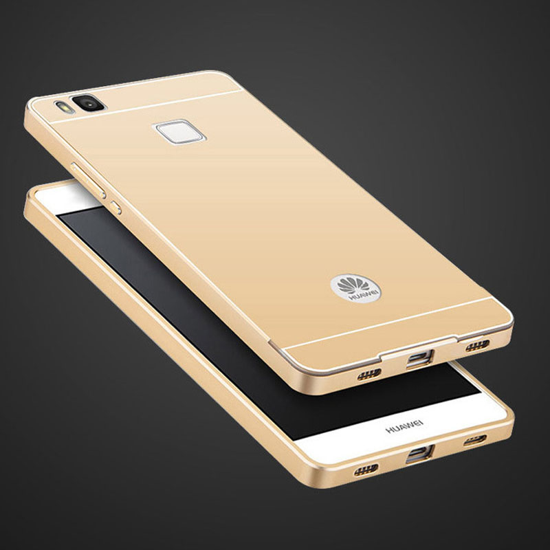 Coque For Huawei P9 Lite Case Acrylic Back Cover For Huawie P 9 Plus Aluminum Metal Bumper Shell Hawei p 9lite p9lite Phone