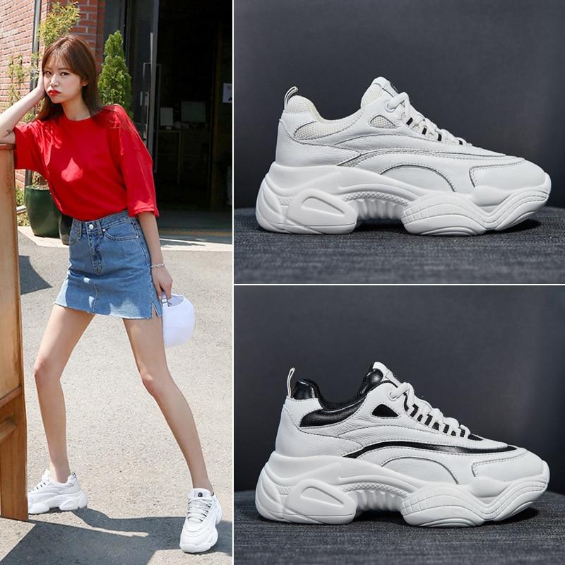 De 2019 Beige Printemps Blanc Chaussures Mode Décontractées Nouveau rouge Sauvage Coréenne noir blanc Étudiant Femmes 0fW0U