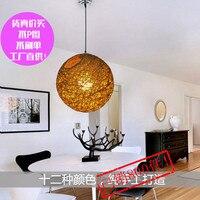 Ma quả bóng đèn chùm nhà sản xuất bán buôn mây phòng ăn đèn tổ dệt đèn chandelier vàng đồng xu