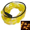 Jiawen 5pcs/lot 10M 100leds Copper Wire Star Shape Christmas Decoration Fairy LED String Lights (DC 12V)