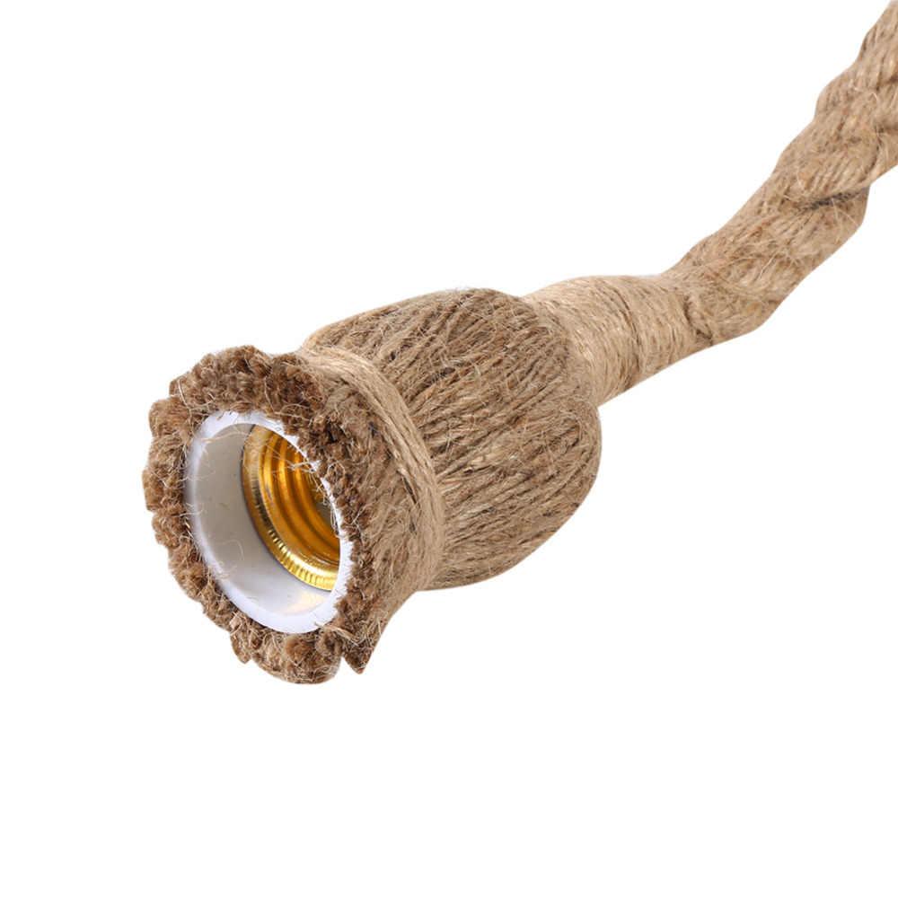 YOSOO 1 шт. винтажная веревка подвесной светильник E27 американская деревенская пеньковая Ретро лампа держатель креативная лампа база без лампы