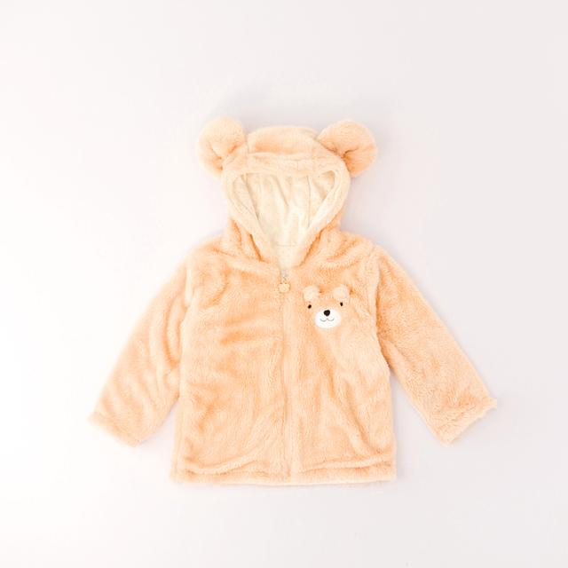 Rosa Jaqueta Com Capuz Bebê Recém-nascido Do Bebê Vestindo Poncho Zip Cardigan Camisola Moleton Infantil Bonito Do Bebê Com a Orelha do transporte Outwear Casaco 50D023