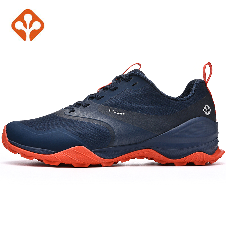 SALAMAN Men Breathable Camping Outdoor Sport Mesh Hiking Shoes For Male Waterproof Mountaineer Climbing Sneakers
