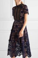 JOYINPARTY High Quality 2017 New Women Self Portrait Lila Floral Lace Runway Dress Elegant Party Ladies