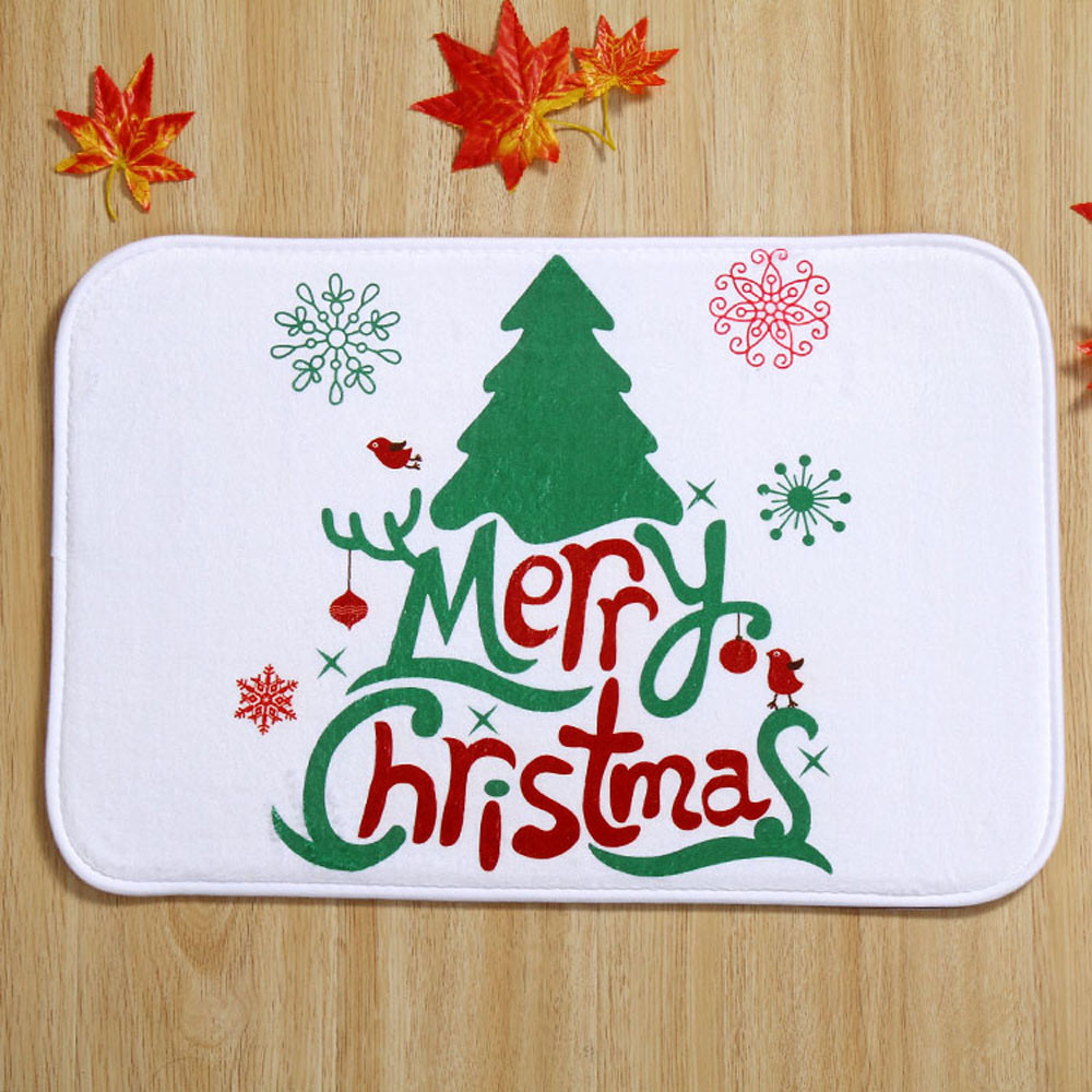 taotown 2016 hot sale new arrival holiday welcome mat outdoor indoor festive christmas decor doormat free shipping - Animated Christmas Decorations