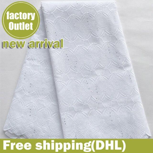 Merletto svizzero del voile 100% cotone tessuto del merletto Nigeriano tessuto africano per abito da sposa 5 yard/lot 5815