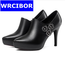 2017 New Luxury Rhinestones Party Shoes Sexy thin heels Platform High heels Sandals Wedding Shoes High Heel womens shoes