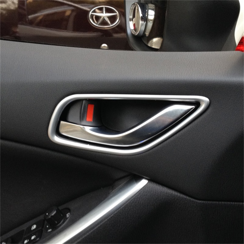 Fit For <font><b>Mazda</b></font> <font><b>CX</b></font>-<font><b>5</b></font> CX5 <font><b>CX</b></font> <font><b>5</b></font> 2012 2013 <font><b>2014</b></font> 2015 CX5 Inner Door Handle Cover Trim cx5 ABS Chrome CX5 Car Styling Accessories image