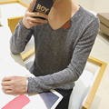 2016 man fake designer brand clothes mens jumper v neck male sweaters polo pullover L-4XL size 25