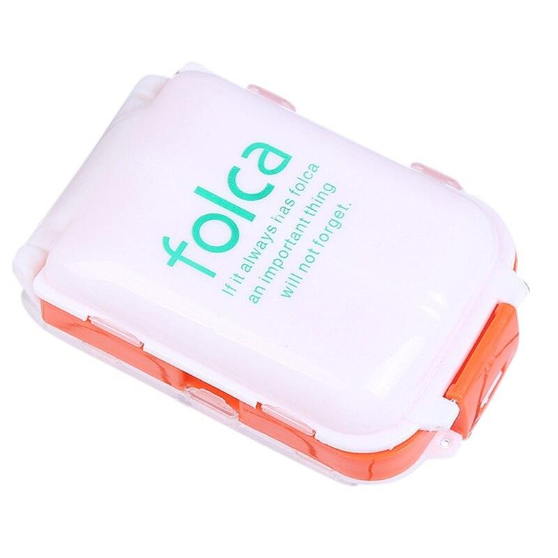 Поступление еженедельно сортировать складной витамин лекарство Pill Box Макияж контейнер для хранения и переноски Чехол 10*6.6*3.5 cmjjps