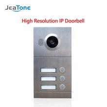 JeaTone видео телефон двери дверной звонок камера IP вызов панель Высокое разрешение дверной звонок Водонепроницаемый 3 кнопки для 3 этажей квартиры