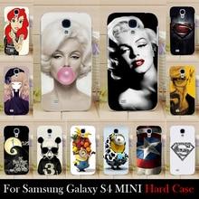 Para samsung galaxy s4 mini s4mini plástico rígido caso tampa do telefone móvel diy cor paitn saco celular shell frete grátis