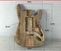 Unfinished Electric Guitar body SSS Paulownia wood Guitar Project/Accessories