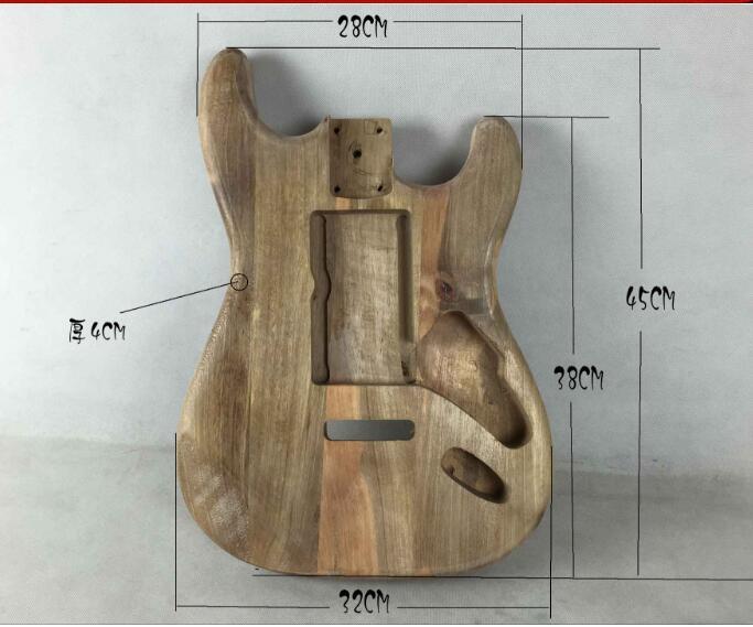Unfinished corps de la Guitare Électrique SSS Paulownia bois Guitare Projet/Accessoires