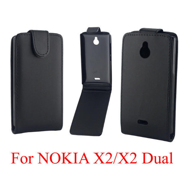 the best attitude a3742 747c6 US $2.83 12% OFF Coque PU leather phone cases Flip Cover For Nokia X2 Back  Phone Bags Vertical Up Down Open skin pouch-in Flip Cases from Cellphones &  ...