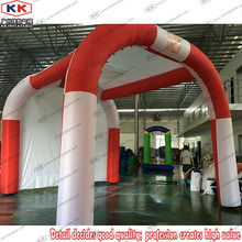 Custom Cool Royal Red Inflatable Awning Tent with logo for advertising display