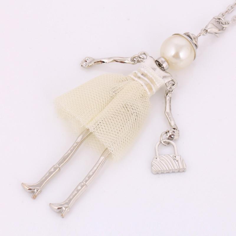 personlighed design dukke halskæde lang kæde vedhæng halskæder - Mode smykker - Foto 3
