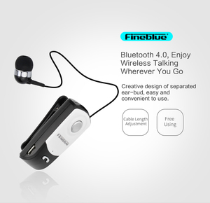 2019 Fineblue F960 Bluetooth Earphone Wireless Handsfree Earbuds Headset with Microphone Calls Remind Vibration Wear Clip Driver