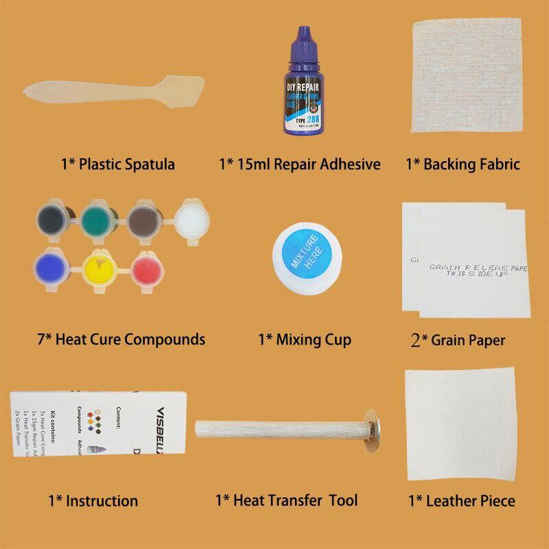 Купить с кэшбэком Update Visbella DIY Leather Vinyl Repair Kit Leather Hand Tool  Setadhesive Auto Car Seat Sofa Coats Holes Scratch Cracks Rips