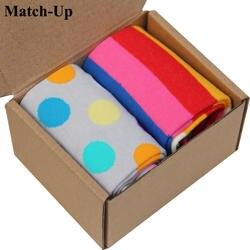 Новый стиль Бесплатная доставка чесаный хлопок фирменные мужские носки, Подарочная коробка носки рождественские носки US размер