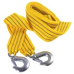 3 тонн 4 метра универсальный автомобильный буксировочный кабель Буксировка ремень веревка Flsorescence автомобиль тянуть веревку с крючками