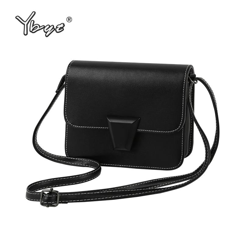 YBYT бренд 2018 Новый Простые повседневные черные женские лоскут дамы сотовом телефоне Кошельки для монет ярких цветов плеча crossbody сумки
