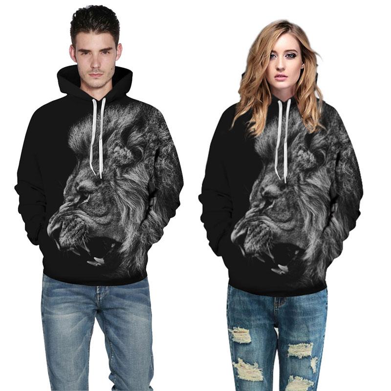 Mr.1991INC New Fashion Men/Women 3d Sweatshirts Print Ferocious Lion Black Thin Autumn Winter Hooded Hoodies Pullovers Tops New Fashion Men/Women 3d Sweatshirts Print of a Ferocious Lion HTB18aFCSpXXXXXSapXXq6xXFXXXe