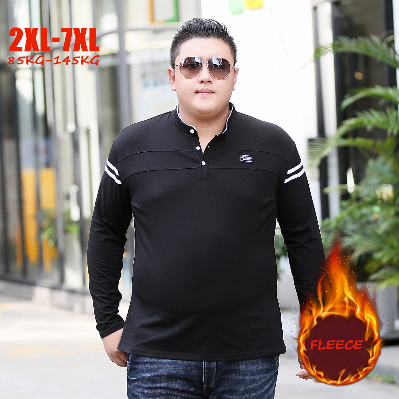 New Winter 85 145kg Men Plus Sizes 5XL 6XL 7XL T Shirt